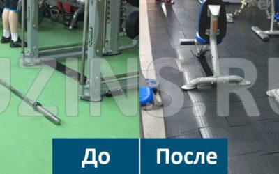 """ПВХ покрытие """"Коин"""" в фитнес-центре 100%"""