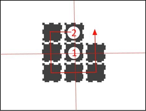 Укладку покрытия нужно производить из центра помещения