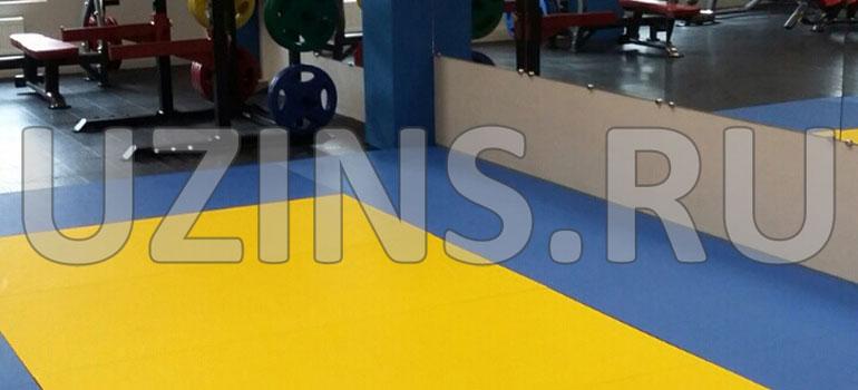 Модульная плитка в фитнес центре Fresh Fit
