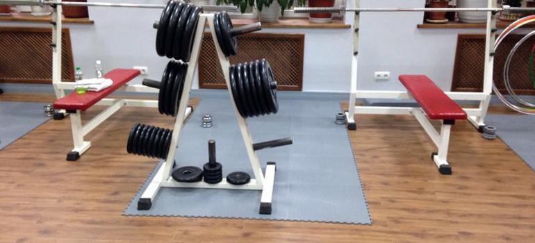 покрытия для фитнес центров и спортзалов