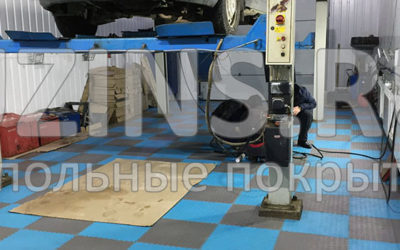 Напольное ПВХ покрытие для автосервиса в городе Мирный