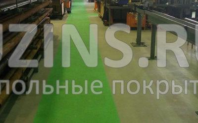 Напольное покрытие для машиностроительного завода
