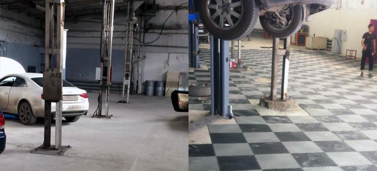 Напольное покрытие для автомастерской
