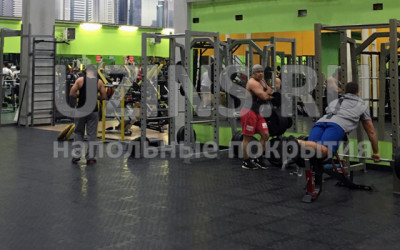 Напольное покрытие в фитнесс-центре Alex Fitness, Москва
