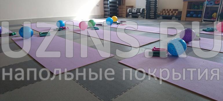 Напольное покрытие «ЮЗИНС» в фитнес-классе «Оникс», в городе Тамань
