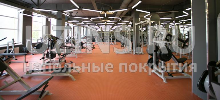 Напольное покрытие в первом московском фитнес клубе сети GYM CLUB