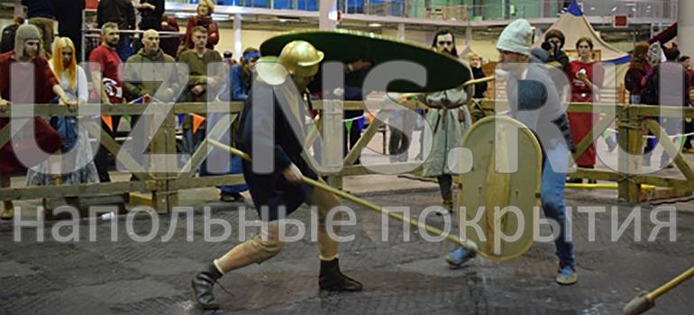 Напольное покрытие на фестивале исторических реконструкций