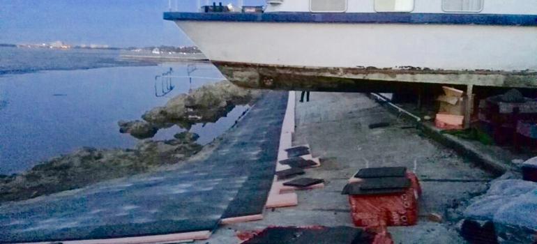 """Резиновое напольное покрытие Трансформер в яхт-клубе """"Новый берег"""""""