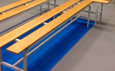Укладка напольного покрытия спорткомплексе Олимпийский