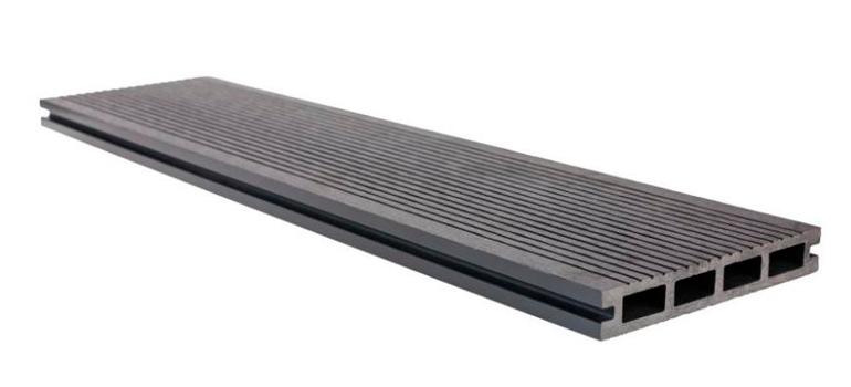 Террасная доска 146x23x4000 полированная (серый)