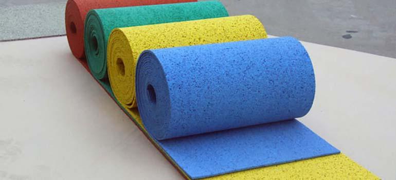 Рулонное покрытие из 100 % каучуковой крошки